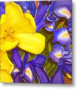 Iris Withtulip Metal Print