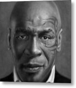 Iron Mike Tyson Drawing Metal Print