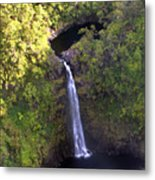 Island Waterfall Metal Print