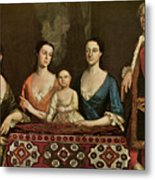 Issac Royall And His Family Metal Print by Robert Feke
