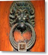 Italian Door Knocker Metal Print by Jen White
