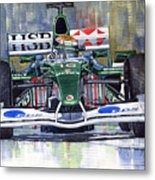 Jaguar R3 Cosworth F1 2002 Eddie Irvine Metal Print