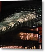 Jamaica Station In Lights Metal Print