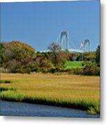 Jamestown Marsh With Pell Bridge Metal Print