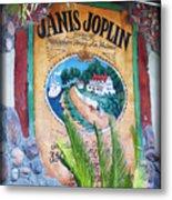 Janis Joplin In Concert Mural Metal Print