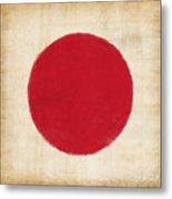 Japan Flag Metal Print by Setsiri Silapasuwanchai