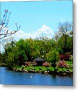 Japanese Gardens In Spring Metal Print
