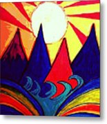 Japanese Sunrise Metal Print
