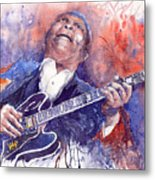 Jazz B B King 05 Red Metal Print