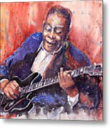 Jazz B B King 06 A Metal Print