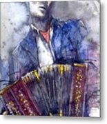 Jazz Concertina Player Metal Print