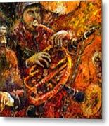 Jazz Gold Jazz Metal Print