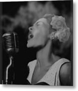 Jazz Great Billie Holiday Metal Print