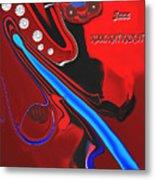 Jazz Kool Kat Kick It Metal Print