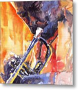Jazz Miles Davis 9 Red Metal Print