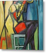 Jazz Trumpet Player Metal Print