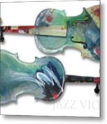 Jazz Violin - Poster Metal Print