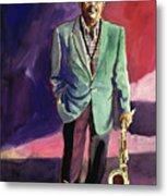Jazzman Ben Webster Metal Print by David Lloyd Glover