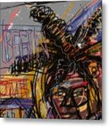 Jean Michel Basquiat Metal Print by Russell Pierce