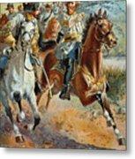 Jeb Stuarts Cavalry 1862 Metal Print