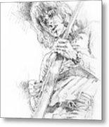 Jeff Beck - Truth Metal Print by David Lloyd Glover