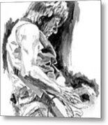 Jeff Beck In Concert Metal Print by David Lloyd Glover