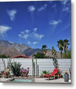 Jelly Fish Clouds In Palm Springs I Metal Print