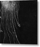 Jellyfish With Cords Metal Print