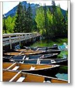 Jenny Lake Boats Metal Print