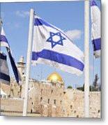 Jerusalem Wailing Wall Metal Print