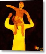 Jesus And Little Boy 1 Metal Print