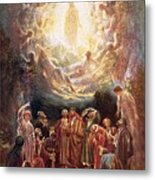 Jesus Ascending Into Heaven Metal Print by William Brassey Hole