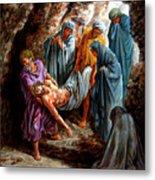 Jesus Burial Metal Print
