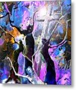 Jesus From Cross Metal Print