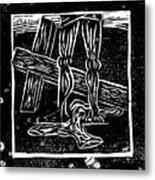 Jesus Is Stripped Of His Cloths Metal Print
