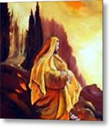 Jesus On The Mountain Metal Print