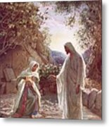 Jesus Revealing Himself To Mary Magdalene Metal Print by William Brassey Hole