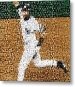 Jeter Walk-off Mosaic Metal Print