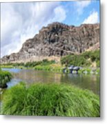 John Day River Landscape In Summer Portrait Metal Print