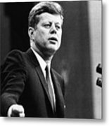 John F. Kennedy, Urges The Senate Metal Print