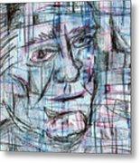 Johnny Cash Metal Print by Jera Sky