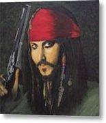 Johnny Depp- Captain Jack Metal Print