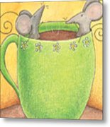 Join Me In A Cup Of Coffee Metal Print by Christy Beckwith
