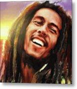 Joyful Marley  Bob Marley Portrait Metal Print
