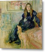 Julie Manet And Her Greyhound Laerte Metal Print