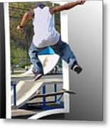 Jumping Out Of The Picture Metal Print