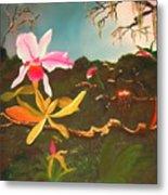 Jungle Orchid Metal Print by Alanna Hug-McAnnally