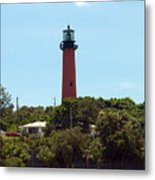 Jupiter Inlet Light Metal Print