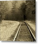 Just Around The Bend Metal Print