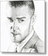 Justin Timberlake Drawing Metal Print